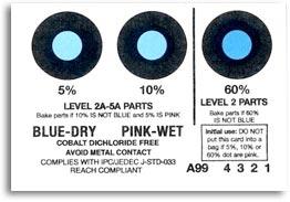 Indicatore di umidità Senza Dicloruro di Cobalto - Secco