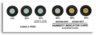 Indicatore di umidità Cobalt Free 100% - Saturo