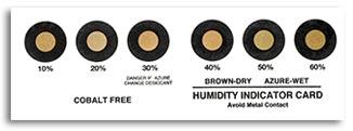Indicatore di umidità Cobalt Free 100% - Secco
